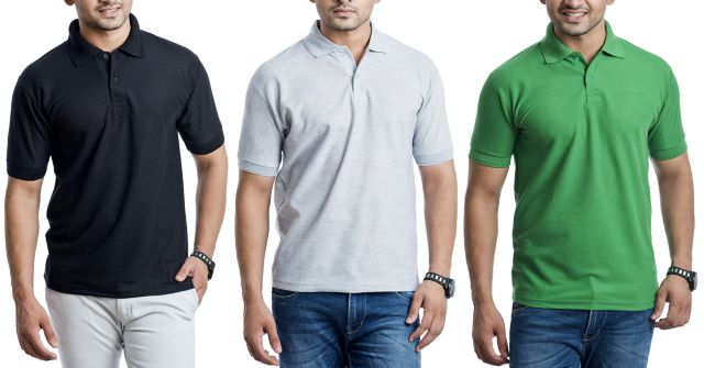 London Looks 3 Polo Tees @ Flat 50% Off!