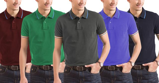 Branded London Looks 5 Men's Polo T-Shirts!