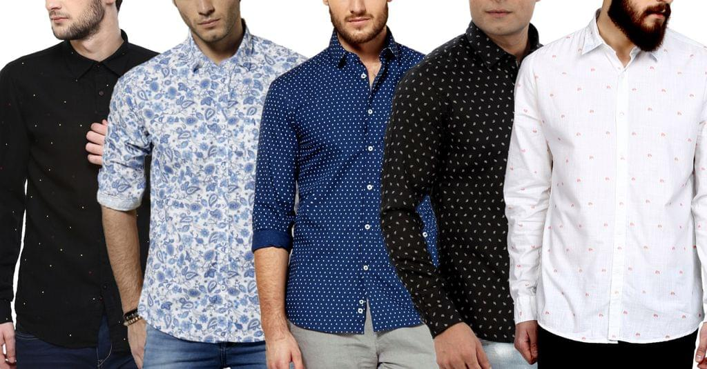 London Looks Men's 5 Branded Stylish Printed Casual Shirts !