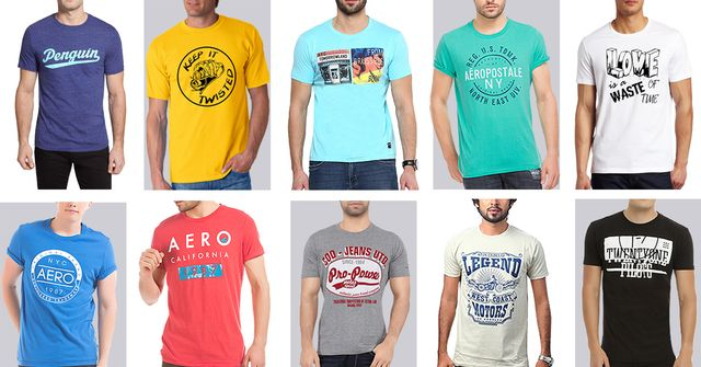 London Looks Branded 10 Round Neck Printed T-Shirts !