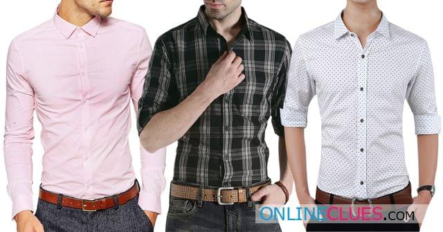London Looks Men's Combo Of 1 Solid ,1 Check & 1 Printed Shirt!