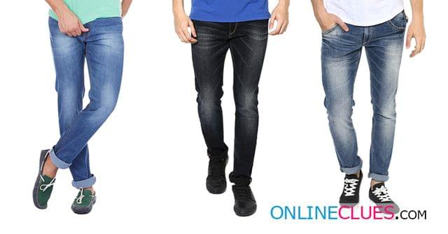 London Looks Brand Men's 3 Combo Of Slim-Fit Denim Jeans!