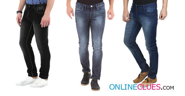 London Looks Brand Men's 3 Combo Of Comfort-Fit Denim Jeans!