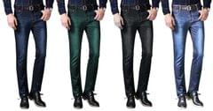 London Looks Brand Men's 4 Combo Of Skinny-Fit Denim Jeans