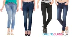 London Looks Brand Women's 4 Combo Of Slim-Fit Denim Jeans
