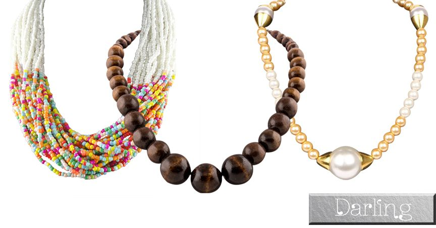 Branded Darling Multicolour Funky Style Pearl & Beads Necklace Sets !