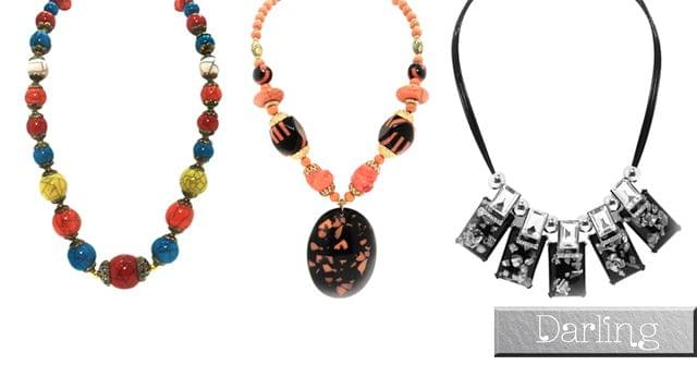 Darling Brand colorful Funky Style Stones Necklace Set !