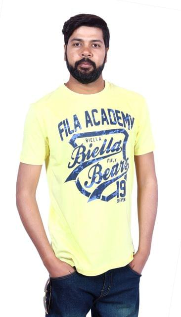 FILA Men's Half Sleeve Yellow T-Shirt!
