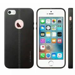 Apple iPhone 6s Vorson Leather Shell with Metallic Logo Display Back Cover